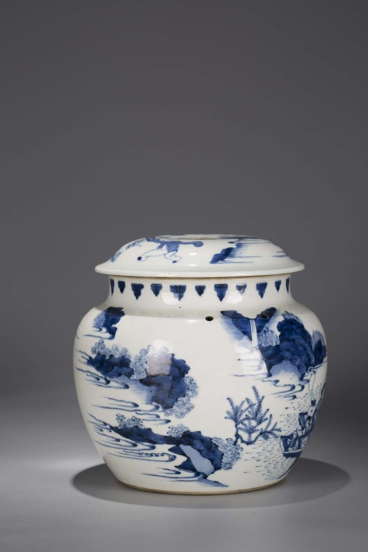 A Chinese Blue and White Porcelain Jar - 4
