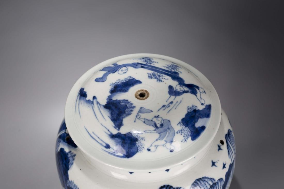 A Chinese Blue and White Porcelain Jar - 5