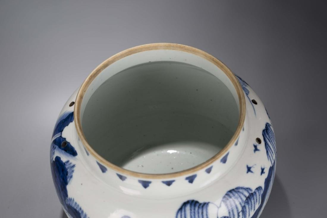 A Chinese Blue and White Porcelain Jar - 7