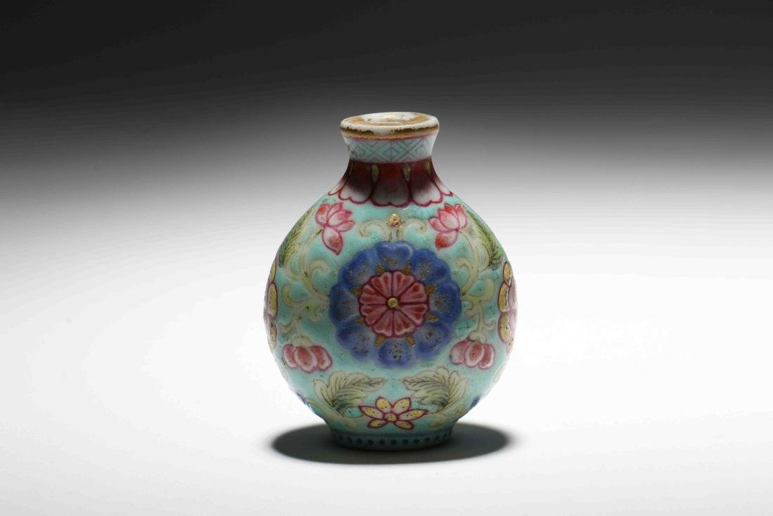 A Chinese Famille-Rose Porcelain Snuff Bottle