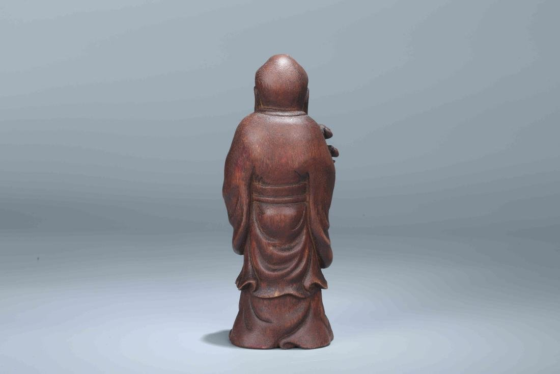 A Chinese Carved Wood Figure - 2