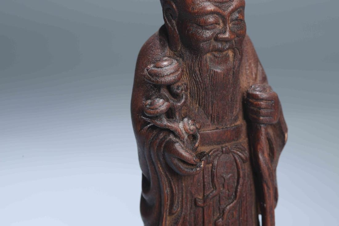 A Chinese Carved Wood Figure - 8