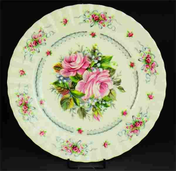 A British Royal Albert Birthday Gift Porcelain Plate