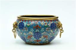 A Chinese Gilt Bronze Cloisonne Water Bowl