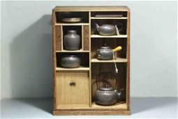 The 8 Piece Set of Japanese Silver Tea Service