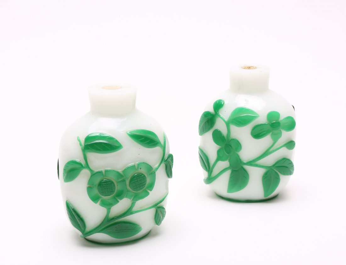 A Pair of Chinese Glass Snuff Bottles