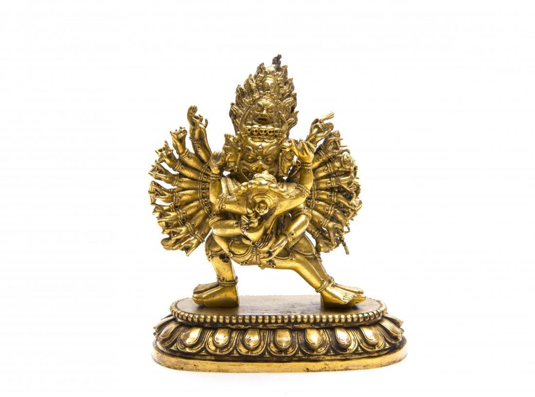A Chinese Gilt-Bronze Figure of Buddha