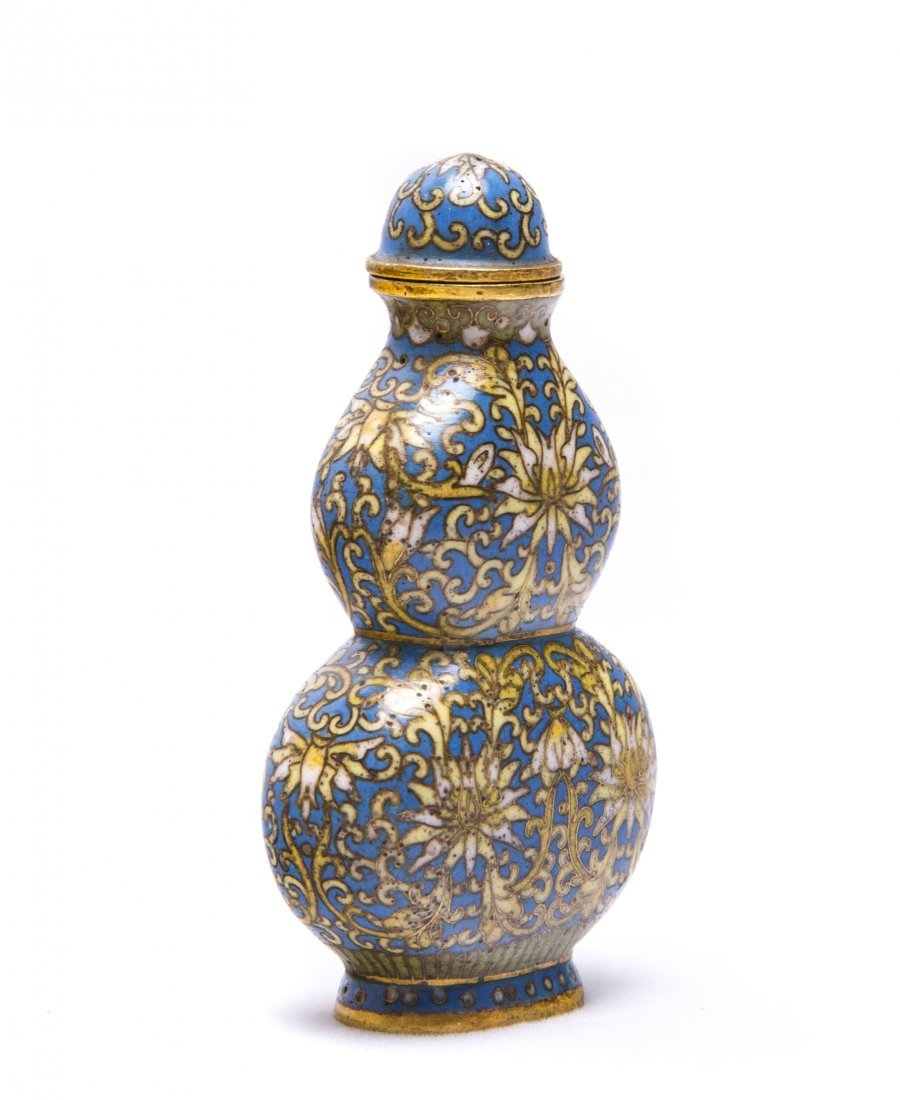 A Chinese Cloisonne Enamel Gourd-Shaped Snuff Bottle - 2