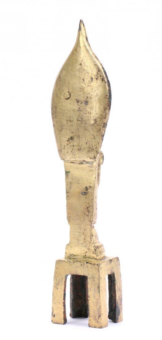 A Chinese Gilt Bronze Figure Of Standing Buddha - 3