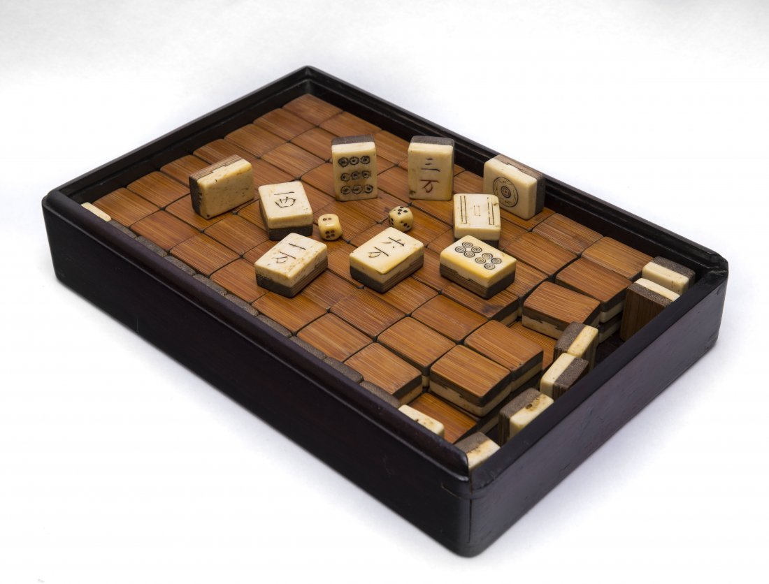 A Set Of Chinese Carved Bone Mahjong