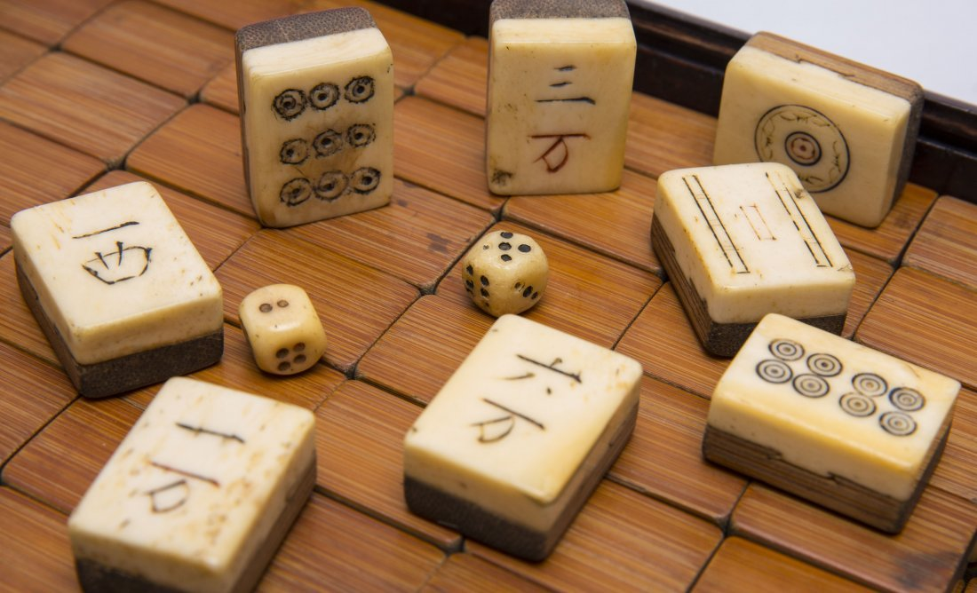 A Set Of Chinese Carved Bone Mahjong - 3