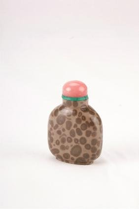 A Chinese Stone Snuff Bottle