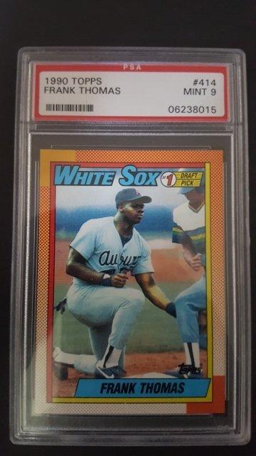 1990 Topps 414b Frank Thomas Rookie Card