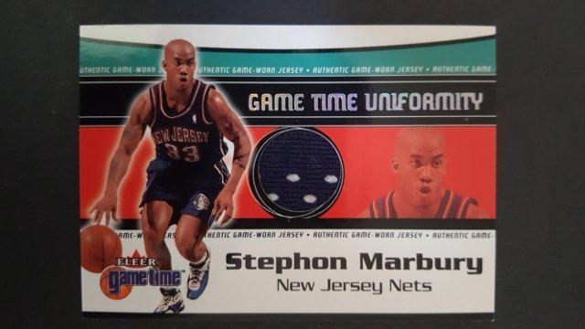 2000-01 Fleer Game Time Uniformity #9 Stephon Marbury