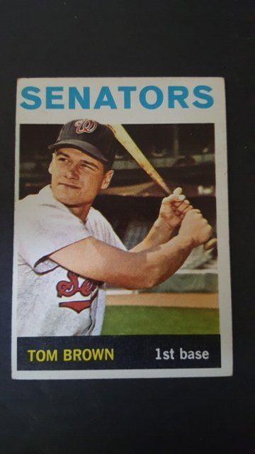 1964 Topps #311 Tom W. Brown Rookie Card