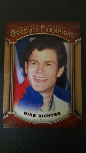 2014 Upper Deck Goodwin Champions #20 Mike Richter