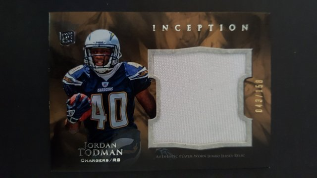 2011 Topps Inception Rookie Relics Jumbo Swatch #JRJT