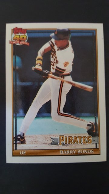 1991 Topps #570 Barry Bonds