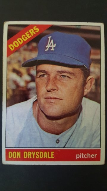 1966 Topps #430 Don Drysdale