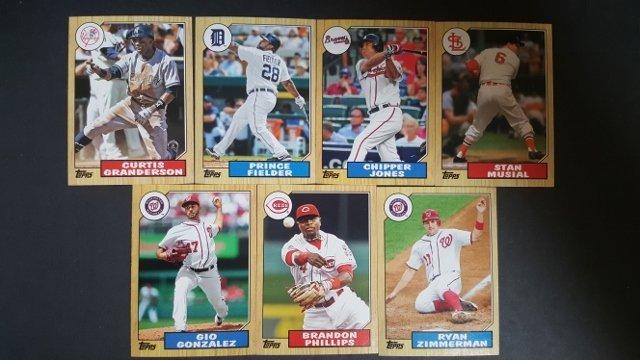 7 2012 Topps 1987 Topps Minis Baseball Cards