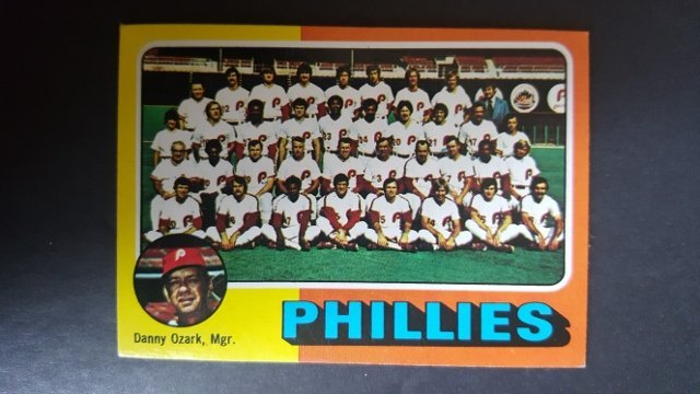 1975 Topps Mini #46 Philadelphia Phillies CL/Danny