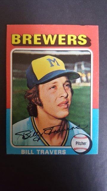 1975 Topps Mini #488 Bill Travers Rookie Card