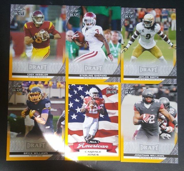 6 2016 Leaf Draft Football Cards
