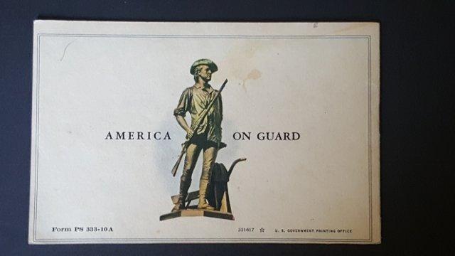 WWII U.S. Postal Defense Savings Bond Booklets - 2
