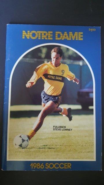 1986 Soccer Program