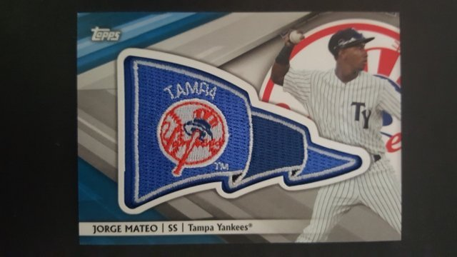 2016 Topps Pro Debut Pennant Patches Gold #PPJM Jorge