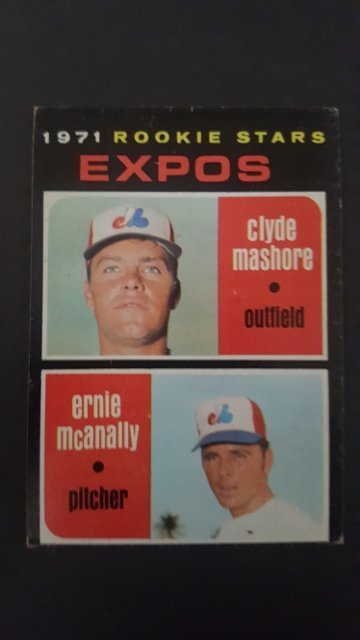 1971 Topps #376 Rookie Stars/Clyde Mashore RC/Ernie