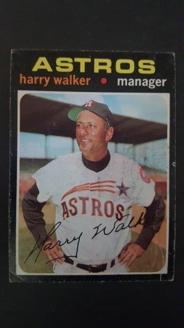 1971 Topps #312 Harry Walker MG