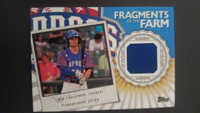 2016 Topps Pro Debut Fragments of the Farm Gold