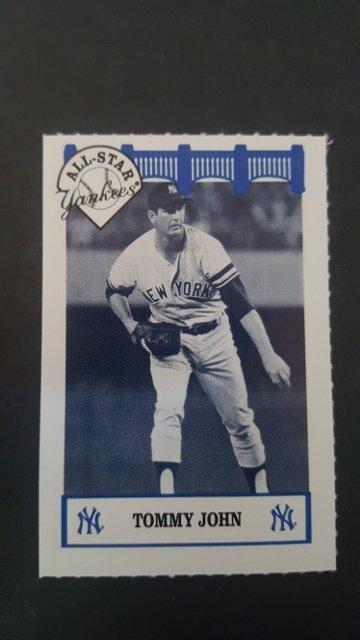 1992 Yankees WIZ All-Stars #34 Tommy John