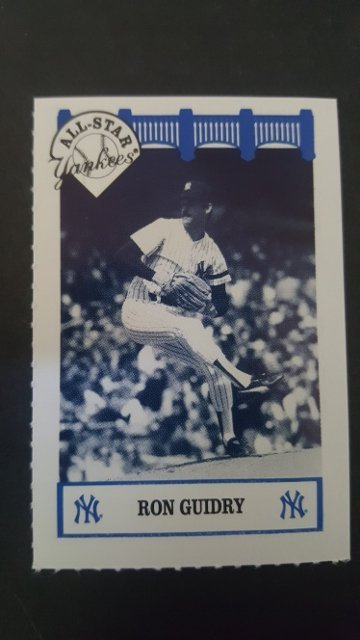 1992 Yankees WIZ All-Stars #27 Ron Guidry