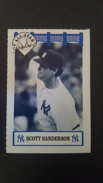 1992 Yankees WIZ All-Stars #74 Scott Sanderson