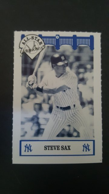 1992 Yankees WIZ All-Stars #75 Steve Sax