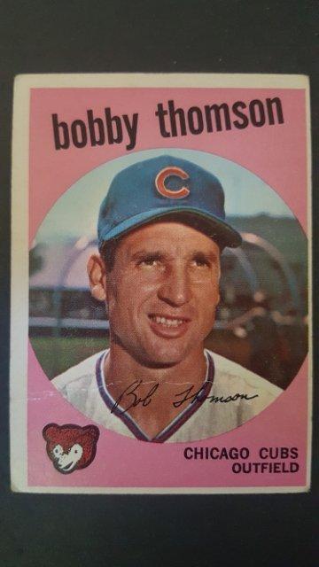 1959 Topps #429 Bobby Thomson