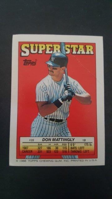1988 Topps/O-Pee-Chee Sticker Backs #35 Don Mattingly