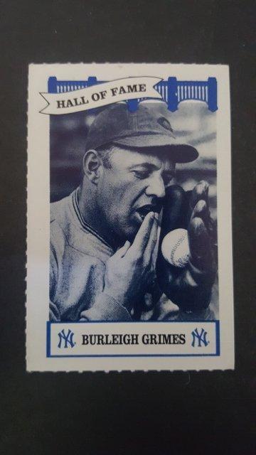 1992 Yankees WIZ HOF #14 Burleigh Grimes