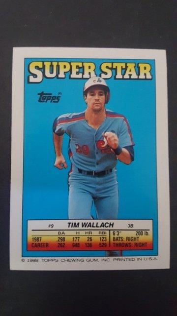 1988 Topps/O-Pee-Chee Sticker Backs #9 Tim Wallach