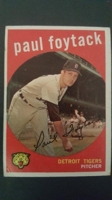 1959 Topps #233 Paul Foytack