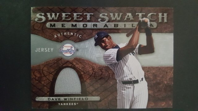2009 Sweet Spot Swatches #DW Dave Winfield
