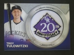 2014 Topps Manufactured Commemorative Team Logo Patch