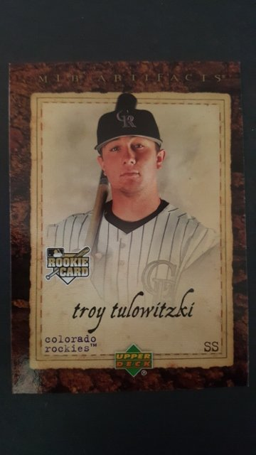 2007 Artifacts #100 Troy Tulowitzki Rookie Card