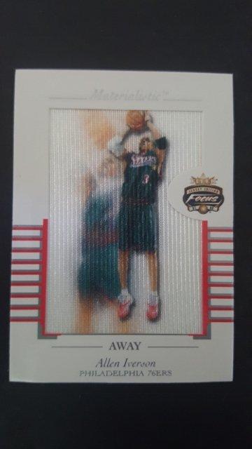 2001-02 Fleer Focus Materialistic Away #6 Allen Iverson