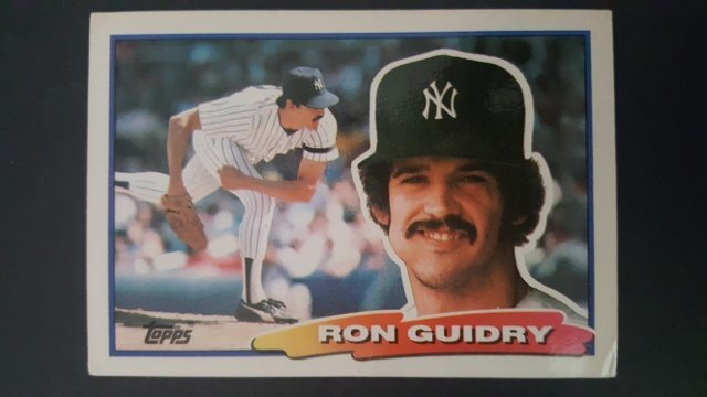 1988 Topps Big #50 Ron Guidry