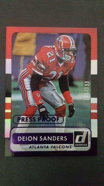 2015 Donruss Press Proofs Purple #178 Deion Sanders