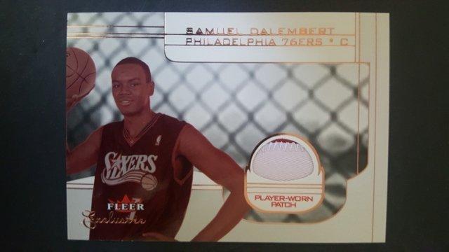 2001-02 Fleer Exclusive #147 Samuel Dalembert/360 Rokie