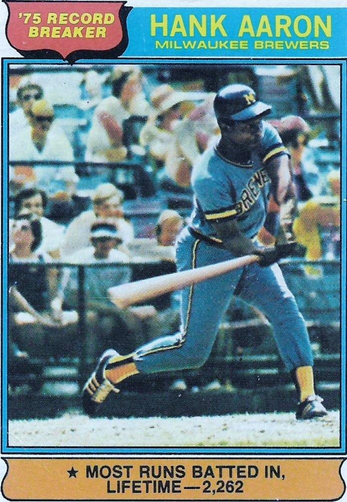 1976 O-Pee-Chee #1 Hank Aaron RB/Most RBI's, 2262